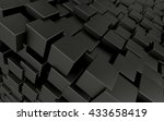 black cubes abstract background.... | Shutterstock . vector #433658419