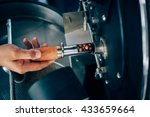 hand holding a probe of fresh... | Shutterstock . vector #433659664