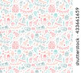 holiday seamless pattern.... | Shutterstock .eps vector #433661659