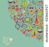 summer doodles design  travel...   Shutterstock .eps vector #433661917