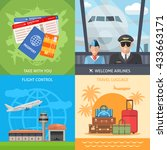 air travel concept with... | Shutterstock .eps vector #433663171
