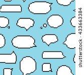 pixel art style speech bubble... | Shutterstock .eps vector #433663384