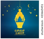ramadan kareem graphic design ... | Shutterstock .eps vector #433665451