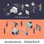 judicial system isometric... | Shutterstock .eps vector #433665619