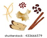 different kind of chinese... | Shutterstock .eps vector #433666579