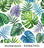 tropical seamless pattern with... | Shutterstock .eps vector #433667431