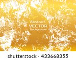 golden abstract painted marble... | Shutterstock .eps vector #433668355