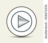 rewind icon symbol  vector... | Shutterstock .eps vector #433672231
