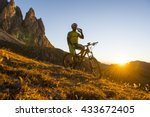 mountainbiker requires liquid... | Shutterstock . vector #433672405