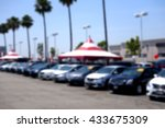 blurred background of car... | Shutterstock . vector #433675309