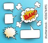 set of speech comic bubbles....   Shutterstock .eps vector #433676491