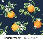 Seamless Pattern With Orange...