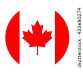 simple vector button flag  ... | Shutterstock .eps vector #433680274