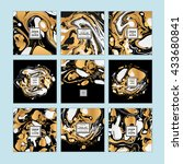 vector set of watercolor hand... | Shutterstock .eps vector #433680841