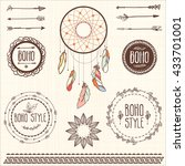 boho elements | Shutterstock .eps vector #433701001