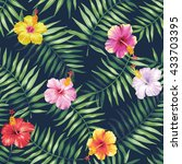 tropical seamless pattern with... | Shutterstock .eps vector #433703395