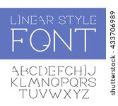 vector linear font   simple and ... | Shutterstock .eps vector #433706989