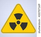 warning sign. nuclear danger | Shutterstock .eps vector #433707169