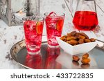 cold refreshing syrup drink ... | Shutterstock . vector #433722835