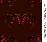 vintage seamless red and black... | Shutterstock .eps vector #433726279