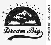 dream big. hand drawn poster... | Shutterstock .eps vector #433730875
