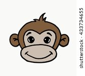 Monkey On A White Background....