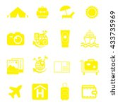 vacation icon set | Shutterstock .eps vector #433735969