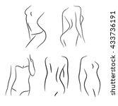 woman shape silhouette vector... | Shutterstock .eps vector #433736191