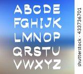 vector alphabet on blurred... | Shutterstock .eps vector #433736701