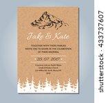Mountain Wedding Invitation....