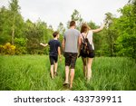 nature loving family makes walk ... | Shutterstock . vector #433739911