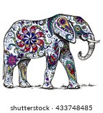 Illustration Of Indian Elephan...