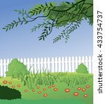 beautiful rural landscape   Shutterstock .eps vector #433754737