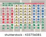 set of pictograms for cards and ... | Shutterstock .eps vector #433756081