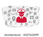 law concept  painted red police ... | Shutterstock . vector #433762099