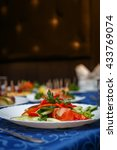 variety of delicious dishes on...   Shutterstock . vector #433769074