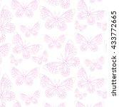 butterflies pattern | Shutterstock .eps vector #433772665