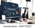 finance money debt credit... | Shutterstock . vector #433773187