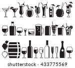 Alcohol Drink Icons. Set Of...