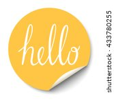 vector circle sticker with... | Shutterstock .eps vector #433780255