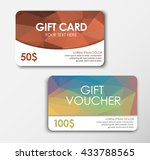 set of gift cards  bronze and... | Shutterstock .eps vector #433788565