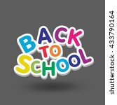back to school design.  | Shutterstock . vector #433790164