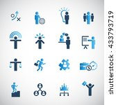human resources icon set. | Shutterstock .eps vector #433793719