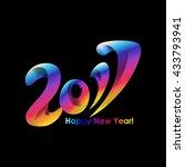 new year 2017 celebration... | Shutterstock .eps vector #433793941