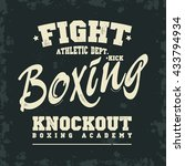 boxing t shirt print. fight ... | Shutterstock .eps vector #433794934