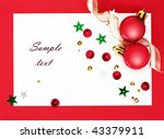 christmas background with red... | Shutterstock . vector #43379911