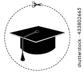 graduation cap vector icon | Shutterstock .eps vector #433802665