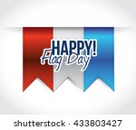 happy flag day us red  white... | Shutterstock . vector #433803427