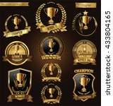 trophy and awards golden badges ... | Shutterstock .eps vector #433804165