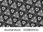 ornament with black and white... | Shutterstock . vector #433805431